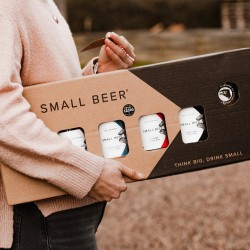Small Beer Gift Pack - Lower Alcohol Beer (4 Bottles with 2 glasses)