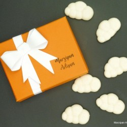 Marzipan Fluffy White Clouds Foodie Gift Vegan Sweets