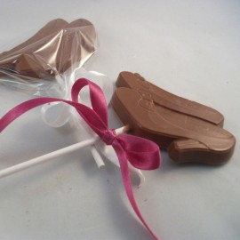 Handmade Chocolate Shoe Lollipop Favours
