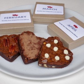 Valentines Monthly Heart Brownie Club Year Subscription