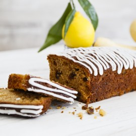 Fruit Loaf with Parsnip and Lemon Icing