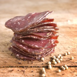 Mustard Seed Venison Salami