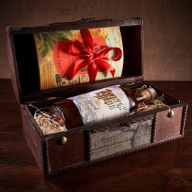 Spiced Rum Gift Chest with Personalised Scroll
