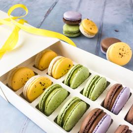 Springtime Macaron Selection Box of 12