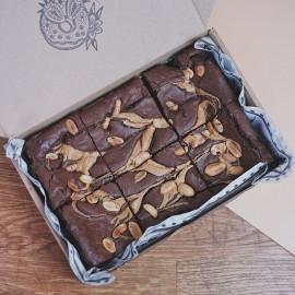 Peanut Butter Brownies - Vegan & Gluten Free