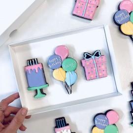 Happy Birthday Letterbox Cookies (Customisable)