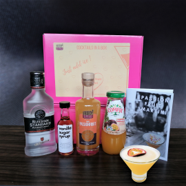 Cocktail in a box - passionfruit Martini set ( serves 4)