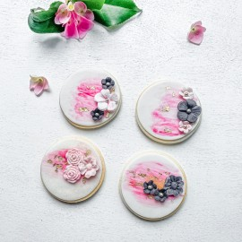 Round Hand-Painted Biscuits
