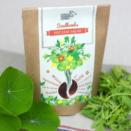 Hot Leaf Salad Seedbomb - Grow Your Own Salad Greens Kit