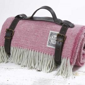 Luxury Wool Picnic Rug - Pink Hydrangea