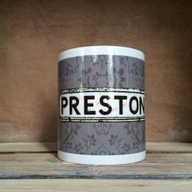 Grey Damask Personalised Mug