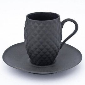 Plain Black Porcelain Cup