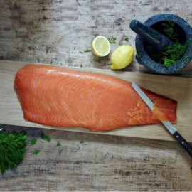 Hand Sliced Scottish Smoked Salmon Side