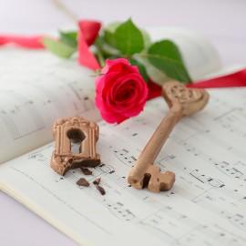 Chocolate Heart Key and Escutcheon