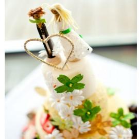 4-Tier Farmhouse Cheese Wedding Cake