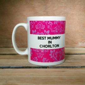 Pink Damask Best Mum