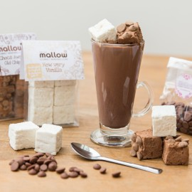 Belgian hot chocolate, marshmallow and spoon kit