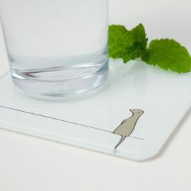 Meerkat Glass Coaster