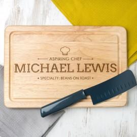 Aspiring Chef Rectangular Board