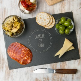 Couple's Personalised Slate Chopping Board