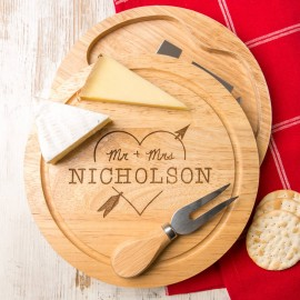 Heart and Arrow Personalised Cheeseboard