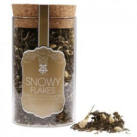 Snowy Flakes Premium Jasmine Green Tea (Elegant Glass Canister)