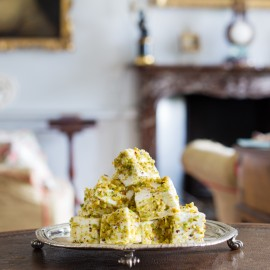 Pistachio and White Chocolate Marshmallows