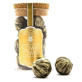 Flower Tower - Giant Flowering Tea Bulb (Elegant Glass Canister)