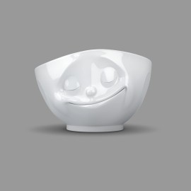 White Porcelain 'Happy' Bowl