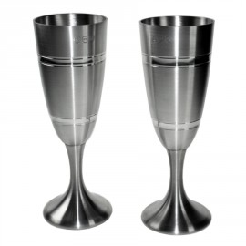 Personalised Pair of Indulgent Prosecco & Champagne Flutes
