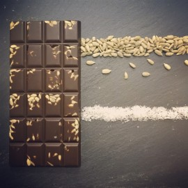 Handmade Dairy Free Milk Chocolate Bars with Sunflower Seeds and Sea Salt (3 pack)