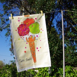 Tutti Frutti Tea Towel in vibrant colours