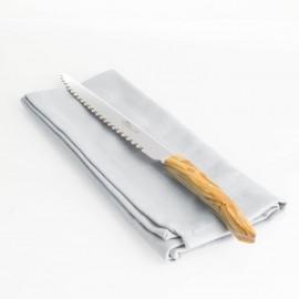 Claude Dozorme Laguiole Bread Knife - Olive Wood Handle
