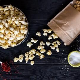Saffron-Rose Sweet and Salty Popcorn