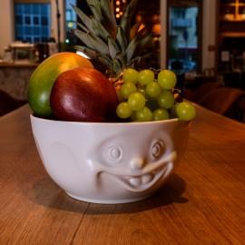 Big White Porcelain Bowl with fruit
