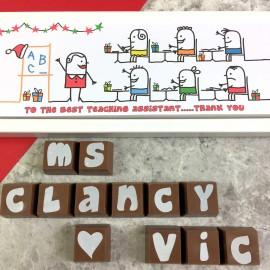 cocoapod christmas thank you teacher gift