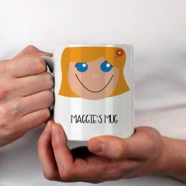 Personalised Girl's Cake Hair Mug