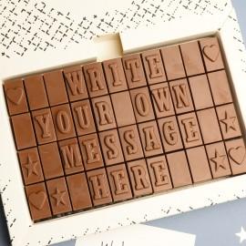 Personalised Chocolate Christmas Card