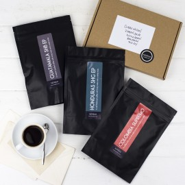 Coffee, tasting notes and welcome letter for month one