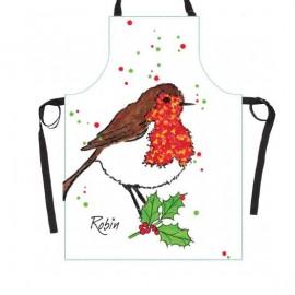 Christmas Robin Cooks Apron