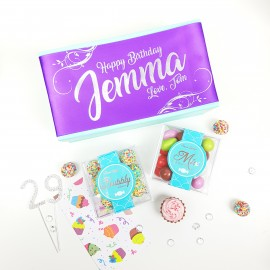 Personalised 'Happy Birthday' Gluten Free Mix & Match Chocolate Box