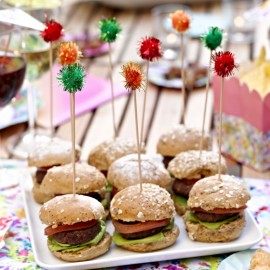 pom pom party food picks