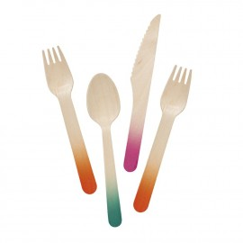 wooden party cutlery