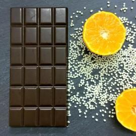 Handmade Dairy Free Milk Chocolate Bars with Orange Crunch (3 bars)
