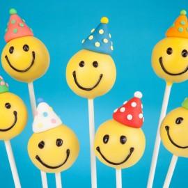 Emoji Cake Pops with Hats
