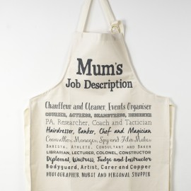 Cook's Apron for Mum with a witty poem