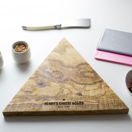 Personalised Triangle Cheese Board