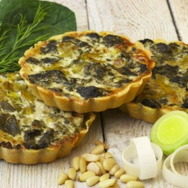 Spinach and Leek Flan (Vegan. Gluten & Dairy Free)