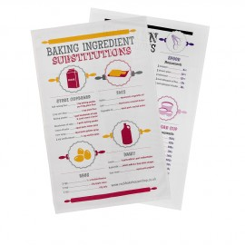 baking substitutions kitchen conversion tea towel gift set