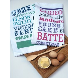 Cake Typography Tea Towel Set